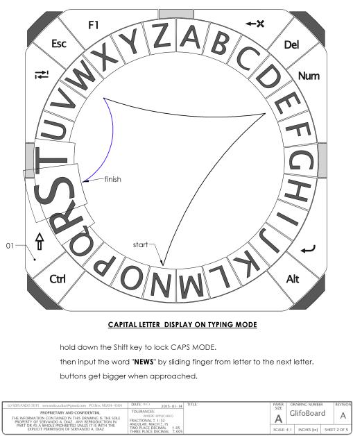 Glyfo's alphabetical circular layout